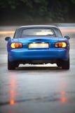 голубой автомобиль влажный Стоковое Изображение