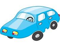 голубой автомобиль Стоковая Фотография RF