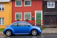 голубой автомобиль Стоковое Изображение