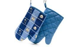 голубой бак перчатки Стоковые Изображения RF