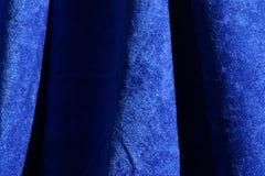 голубой бархат текстуры ткани Стоковое Изображение