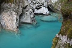 Голубой бассеин, Новая Зеландия Стоковое фото RF