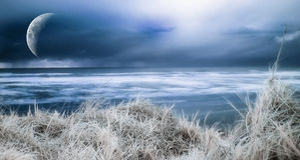 голубой берег океана Стоковое фото RF