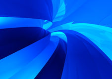 голубой будущий тоннель технологии Стоковое Изображение