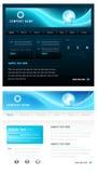 голубой вебсайт вектора шаблона Стоковые Изображения