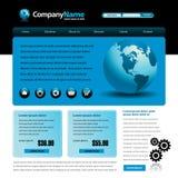 голубой вебсайт шаблона Стоковое Изображение RF