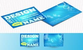 голубой вектор визитной карточки установленный Стоковые Изображения