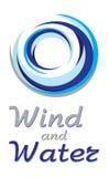 голубой ветер воды круга Стоковые Фотографии RF