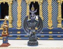Голубой висок или Wat Rong Suea 10 Chiang Rai расположены на Стоковые Изображения RF