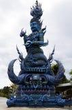 Голубой висок или Wat Rong Suea 10 Chiang Rai расположены на Стоковое фото RF