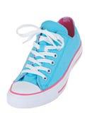голубой вися сбор винограда ботинка Стоковые Фотографии RF