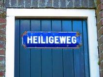 Голубой вход в голландском рыбацком поселке Стоковое Изображение
