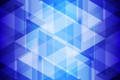 Голубой геометрический свет и предпосылка тени абстрактная Стоковые Изображения