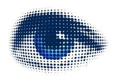 голубой глаз иллюстрация штока