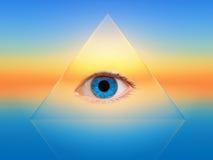 Голубой глаз иллюстрация вектора