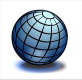 голубой глобус земли лоснистый иллюстрация штока