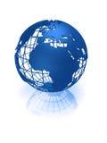 голубой глобус земли Стоковое фото RF