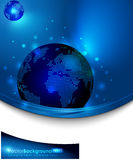 голубой глобус лоснистый Стоковое Фото