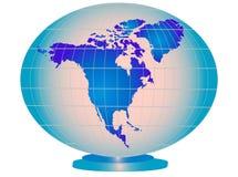 голубой глобус США дела Бесплатная Иллюстрация