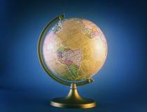 голубой глобус Стоковая Фотография