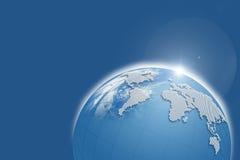 голубой глобус Стоковое Изображение