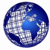 голубой глобус darl 3d Стоковые Изображения RF
