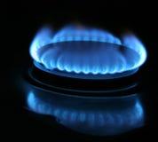 голубой городок газа стоковые изображения rf