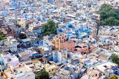 Голубой город взгляд сверху Джодхпура Стоковое Изображение RF