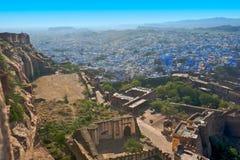голубой город jodhpur Раджастхан Стоковое Изображение RF