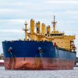 голубой грузовой корабль Стоковые Изображения RF