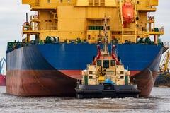 голубой грузовой корабль Стоковое Изображение RF