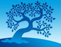 голубой густолиственный вал Стоковые Фотографии RF