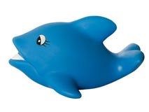 Голубой дельфин на белой предпосылке Стоковое Фото