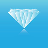 голубой диамант Стоковое фото RF