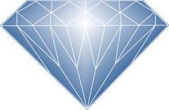 голубой диамант Стоковое Изображение RF