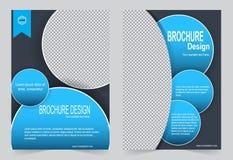 Голубой дизайн рогульки шаблона брошюры Стоковое Изображение RF
