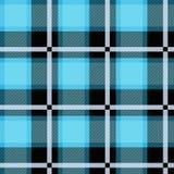 Голубой дизайн шотландки тартана безшовный Текстурированная шотландка иллюстрация вектора