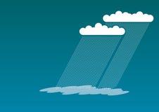 голубой дождь иллюстрация штока