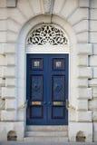 голубой домашний офис двери цвета здания Стоковые Фотографии RF