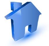 голубой домашний символ Иллюстрация вектора