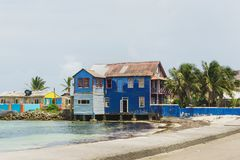Голубой дом, Сан Andrés Стоковые Фото