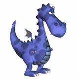 голубой дракон шаржа Стоковая Фотография