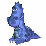 голубой дракон шаржа Стоковая Фотография RF