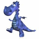 голубой дракон шаржа Стоковые Фотографии RF