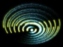 голубой желтый цвет спирали частиц фантазии излучения Стоковые Изображения RF