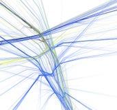 голубой желтый цвет фрактали Стоковые Фотографии RF