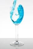 голубой жидкостный выплеск Стоковая Фотография