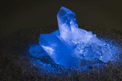 голубой загоранный кристалл Стоковая Фотография
