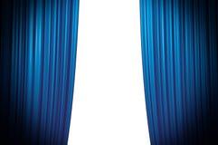 голубой заключительный занавес Стоковые Изображения