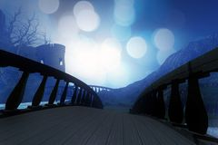 Голубой замок острова Стоковая Фотография RF